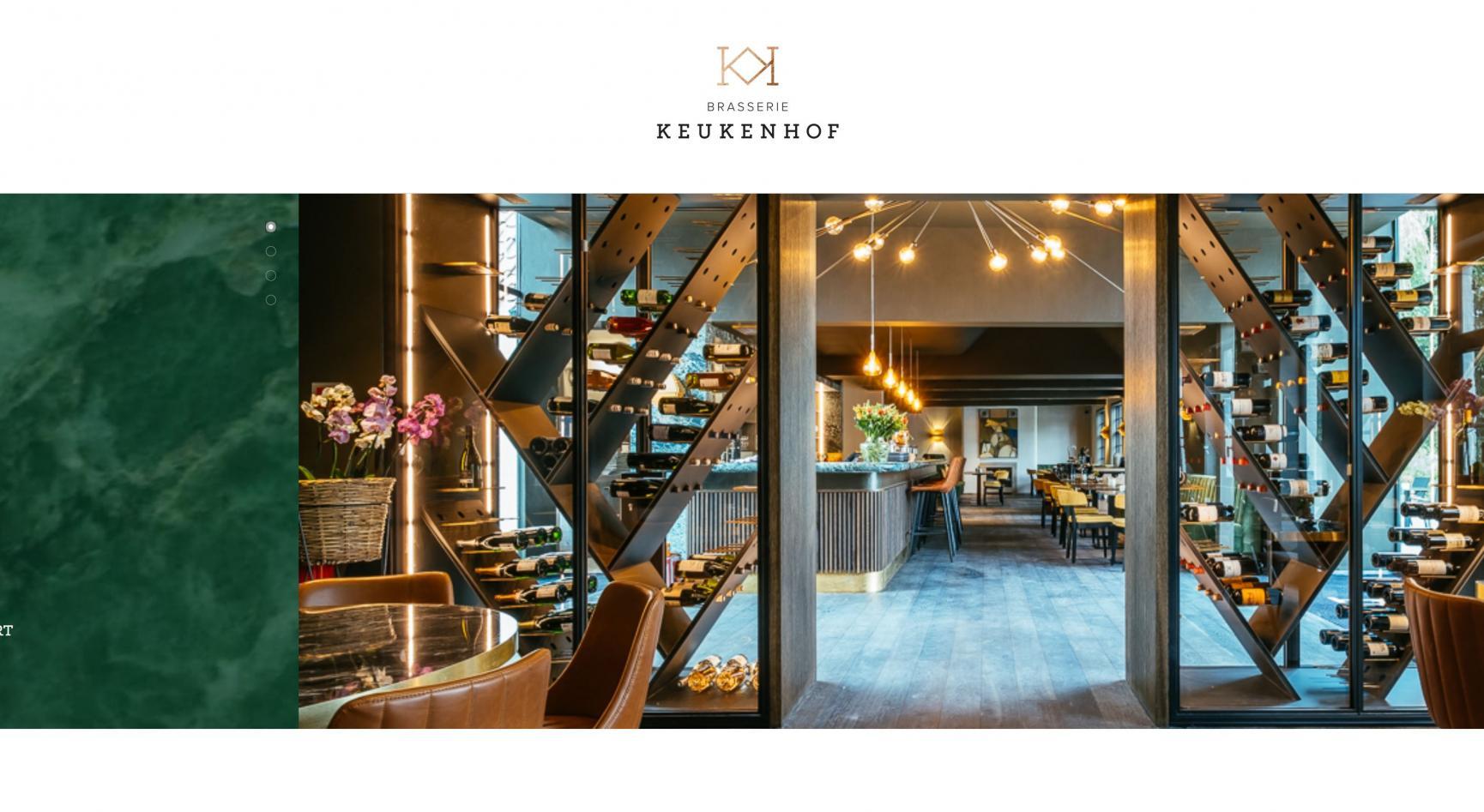 Brasserie keukenhof website ontwikkeling door Faromedia