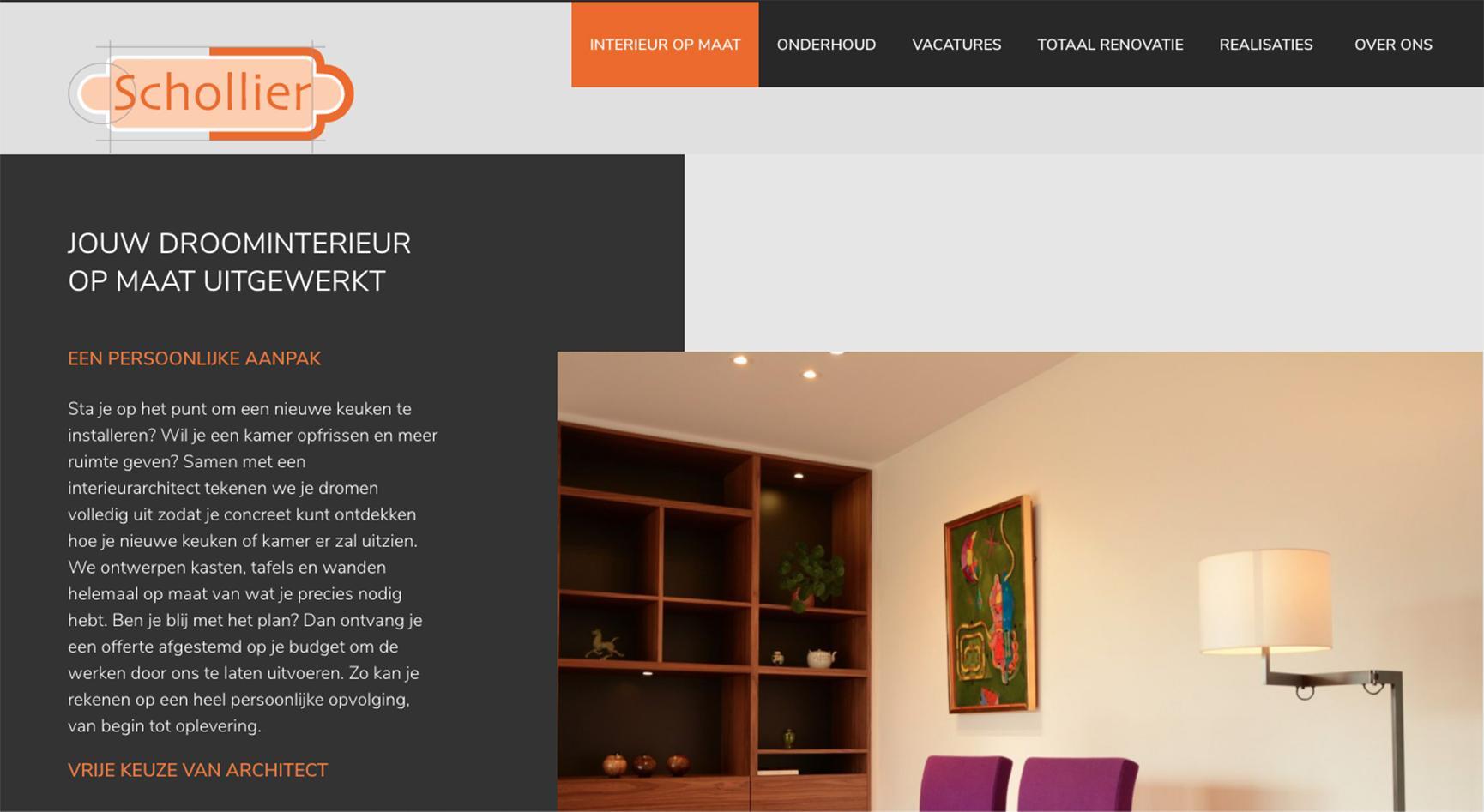 webdesign schollier door faromedia